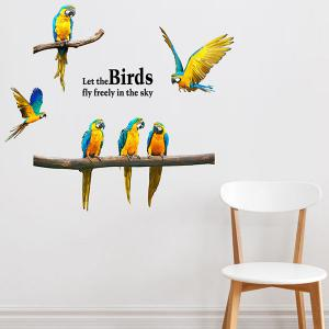 Macaw Removable Waterproof Wall Stickers Animals - COLORMIX
