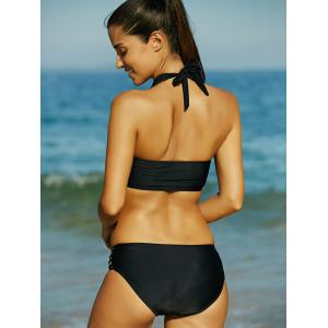 Alluring Strappy Black Hollow Out Women's Bikini Set -