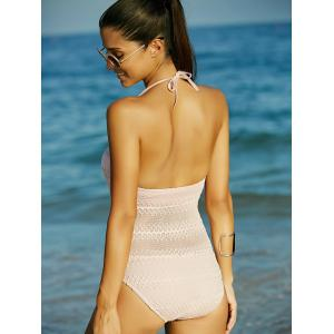 Charming Halter Hollow Out Backless Women's Swimwear - COMPLEXION XL