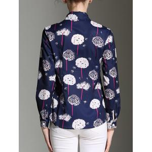 Elegant Women's Dandelion Print Long Sleeves Shirt -