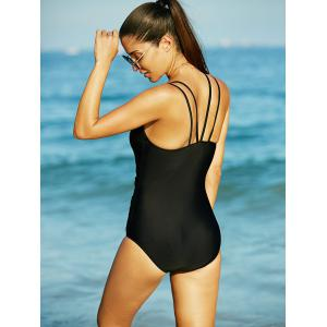 Charming Mesh-Insert Black Hollow Out Women's Swimwear -