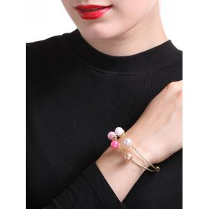 Graceful Layered Artificial Pearl Bracelet -