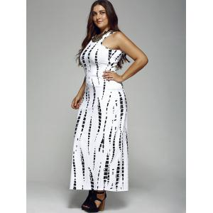 Plus Size Long Fitted Prom Formal Dress - WHITE 5XL