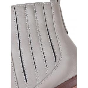 Stylish Stitching and Elastic Band Design Ankle Boots For Women -