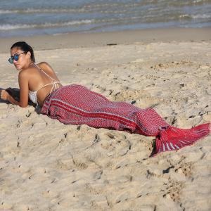 High Quality Knitting Mermaid Tail Style Soft Blanket -