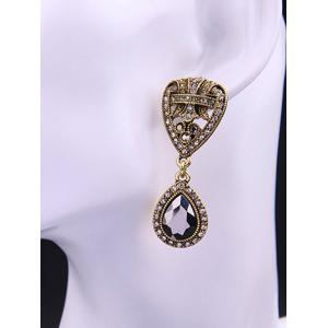 Fake Crystal Teardrop Drop Earrings -