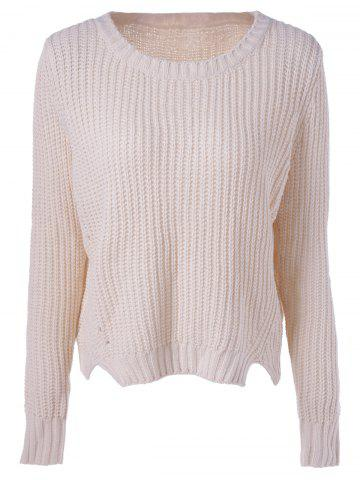 Outfits Casual Women's Scoop Neck Basic Solid Color Pullover Knit Sweater