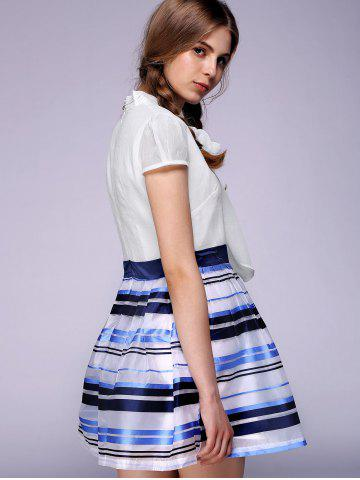 Chic Endearing Puff Sleeve Bowknot Organza Dress For Women -   Mobile