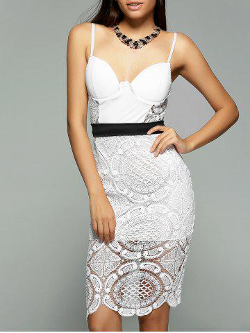 Shop Alluring Spaghetti Strap Lacework Sheath Lace Dress