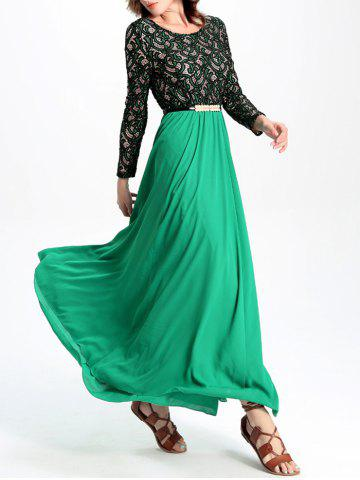 Fashion Stunning Lace Chiffon Dress For Women