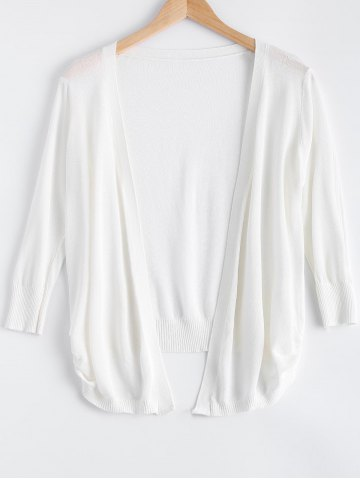Sale Simple Candy Pure Color Semi Sheer Cardigan
