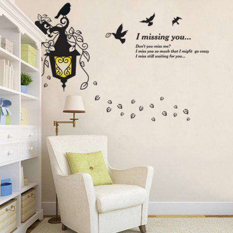 Online Waterproof Creative Droplight Words Letters Wall Stickers
