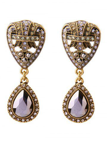Trendy Fake Crystal Teardrop Drop Earrings