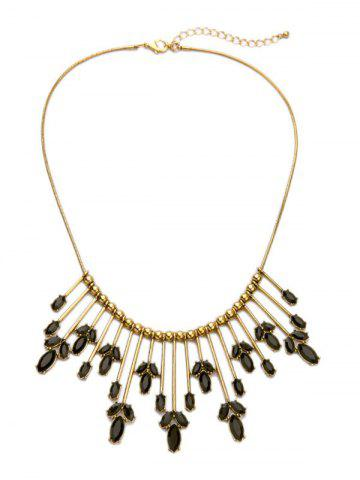 New Retro Cut Out Leaf Statement Necklace
