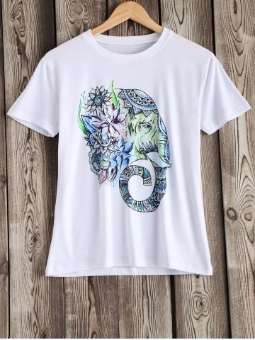 Outfits Cute Elephant Pattern Tee