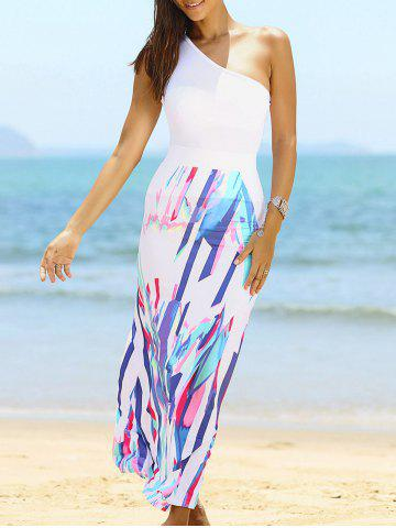Fancy Fashionable One Shoulder Top and High Waist Skirt For Women