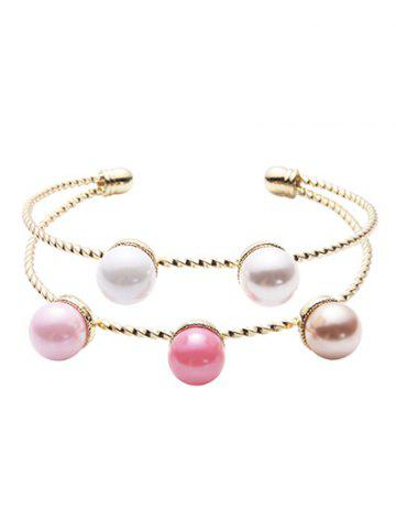 Discount Graceful Layered Artificial Pearl Bracelet