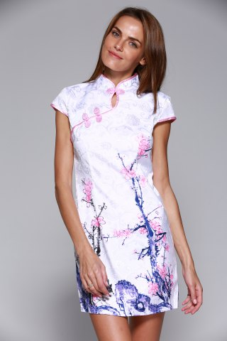 Store Classical Beauty Plate Button Plum Blossom Cheongsam
