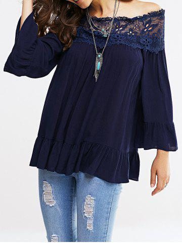 Online Off-The-Shoulder Bell Sleeve Lace Blouse
