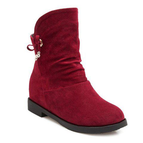 Fashion Concise Solid Color and Increased Internal Design Short Boots For Women