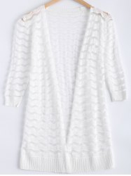 Ripple Pattern See-Through Cardigan -
