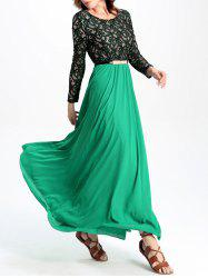 Stunning Lace Chiffon Dress For Women -
