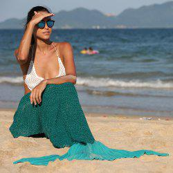 Simple Style Ombre Color Knitting Mermaid Shape Blanket -