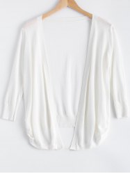 Simple Candy Pure Color Semi Sheer Cardigan -