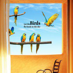 Macaw Removable Waterproof Wall Stickers Animals -
