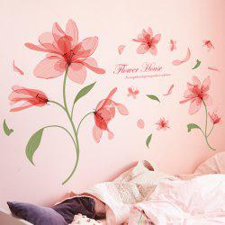Sweet Flower Pattern Removable Waterproof Wall Stickers