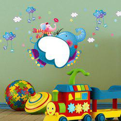 Cartoon Elephant Removable Animal Kids Room Wall Stickers