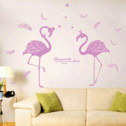 Art 1 Pcs Love Bird Famingos PVC Removable Wall Stickers