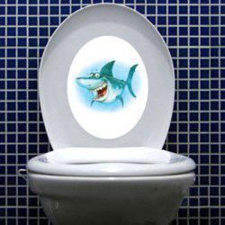 Cartoon Shark Waterproof Wall Art Stickers For Toilet