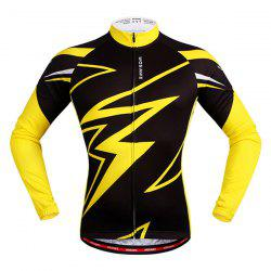 Trendy Spring Outdoor Long Sleeves Lightning Pattern Cycling Jersey -