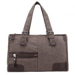 Casual Canvas and Zip Design Tote Bag For Men -