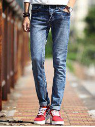 Fashion Mid-Wash Slim Fit Jeans For Men -