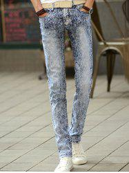 Fashionable Snow Wash Skinny Jeans