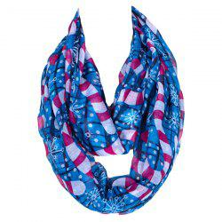 Chic Christmas Snowflake Walking Stick Voile Scarf