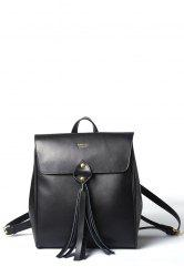 Fringe Leather Backpack
