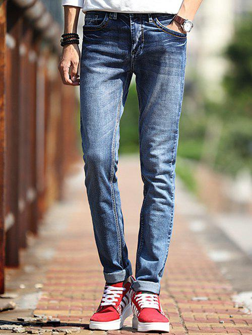 Latest Fashion Mid-Wash Slim Fit Jeans For Men