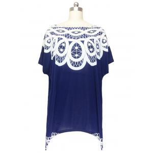Stunning Cap Sleeve Handkerchief Blouse For Women