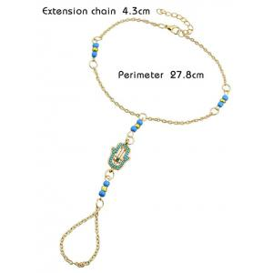 Hand Fake Gem Beads Anklet -