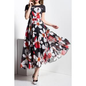Floral Chiffon Maxi Flowy Beach Dress