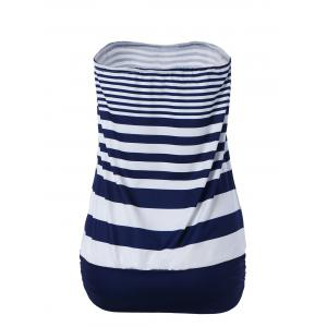 Casual Strapless Striped Top For Women -