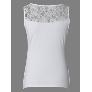 Brief Pure Color Lace Tank Top For Women -