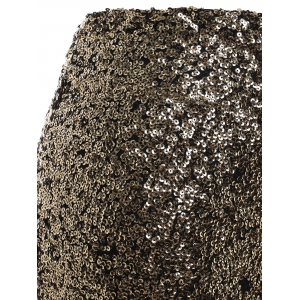 OL Style Plus Size Sequined Bodycon Skirt -