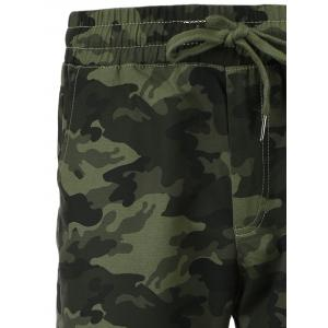 Cotton Blends Camouflage Beam Feet Lace-Up Pants -