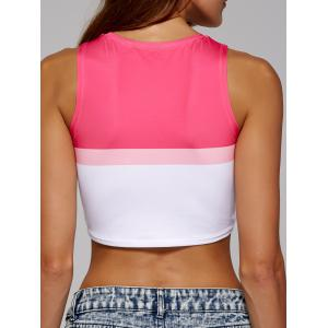 Two Tone Sleeveless Crop Top -
