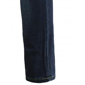 Jeans+Cotton Straight Leg Slimming Zipper Fly Denim Pants -