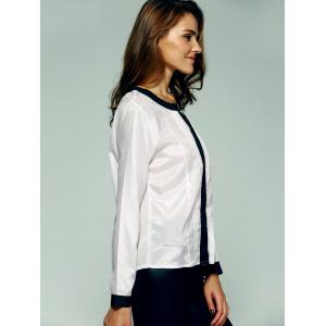 Graceful Hit Color Ruched Blouse For Women -
